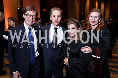 Germany Amb. Peter Wittig, Maximilian Wittig, Annie Totah, Huberta Wittig. Photo by Tony Powell. 2017 Holocaust Museum National Tribute Dinner. Marriott Marquis. April 24, 2017