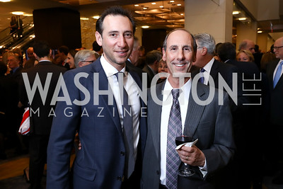 Ezra Weinblatt, Steve Silverberg. Photo by Tony Powell. 2017 Holocaust Museum National Tribute Dinner. Marriott Marquis. April 24, 2017