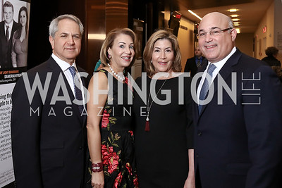 Mark and Nancy Duber, Stacy and Ken Samet. Photo by Tony Powell. 2017 Holocaust Museum National Tribute Dinner. Marriott Marquis. April 24, 2017