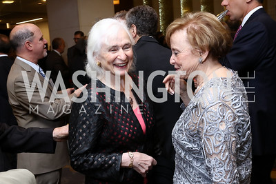 Irene Wurtzel, Marion Lewin. Photo by Tony Powell. 2017 Holocaust Museum National Tribute Dinner. Marriott Marquis. April 24, 2017