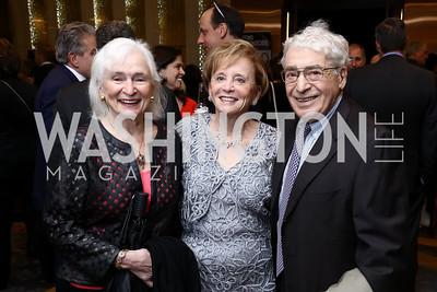 Irene Wurtzel, Marion Lewin, Alan Wurtzel. Photo by Tony Powell. 2017 Holocaust Museum National Tribute Dinner. Marriott Marquis. April 24, 2017