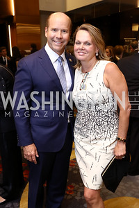 Rep. John Delaney and April Delaney. Photo by Tony Powell. 2017 Holocaust Museum National Tribute Dinner. Marriott Marquis. April 24, 2017