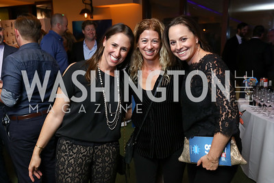 Jamie Hotchkiss, Lauren Wiseman, Rikki Drykerman. Photo by Tony Powell. 2017 Hope for Henry. Pinstripes. October 3, 2017