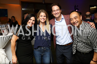 Laurie Strongin, Callie Nierenberg, Brad Nierenberg, Alain Nu. Photo by Tony Powell. 2017 Hope for Henry. Pinstripes. October 3, 2017