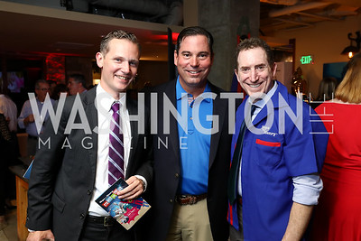 AAE VP Erik Komendant, AAE CEO Chip Davis, Alan Goldberg. Photo by Tony Powell. 2017 Hope for Henry. Pinstripes. October 3, 2017