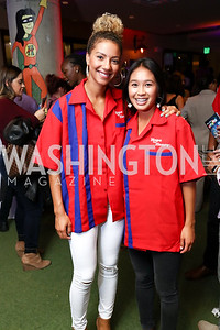 Washington Spirit Estelle Johnson, Caprice Dydasco. Photo by Tony Powell. 2017 Hope for Henry. Pinstripes. October 3, 2017