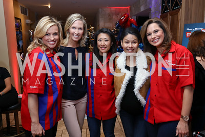 Pamela Brown, Laura Evans, Eun Yang, Angie Goff, Alison Starling. Photo by Tony Powell. 2017 Hope for Henry. Pinstripes. October 3, 2017