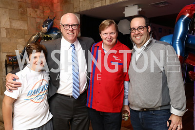 Liam Crowley, Rep. Joe Crowley, Jim Messina, Rob Hendin. Photo by Tony Powell. 2017 Hope for Henry. Pinstripes. October 3, 2017