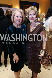 Denise Murphy, Connie Morella. Photo by Tony Powell. 2017 Imagination Stage Gala. Italian Embassy. December 8, 2017
