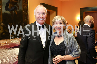 Maryland Comptroller Peter Franchot and Annie Maher Franchot. Photo by Tony Powell. 2017 Imagination Stage Gala. Italian Embassy. December 8, 2017