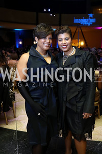 Tiffany Rose and Tina Easter. Photo by Tony Powell. 2017 Imagination Stage Gala. Italian Embassy. December 8, 2017