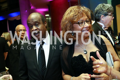 Montgomery County Executive Ike Leggett and Catherine Leggett. Photo by Tony Powell. 2017 Imagination Stage Gala. Italian Embassy. December 8, 2017
