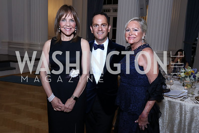 Barbara Harrison, Richard Marks, Deborah Sigmund. Photo by Tony Powell. 2017 Innocents at Risk Gala. OAS. April 26, 2017