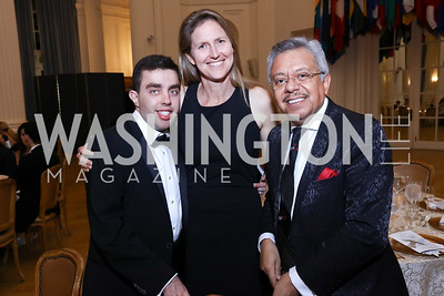 Ashraf Ghorbal, Sarah Thorpe, Angel Saltos. Photo by Tony Powell. 2017 Innocents at Risk Gala. OAS. April 26, 2017