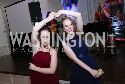 Abby Camp, Paige Tenkhoff. Photo by Tony Powell. 2017 Innocents at Risk Gala. OAS. April 26, 2017
