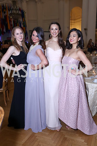 Megan Tooley, Sarah MacLellan, Jessica James Golden, Jeanette Lee. Photo by Tony Powell. 2017 Innocents at Risk Gala. OAS. April 26, 2017