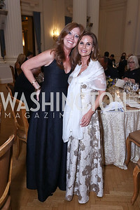 Elizabeth Centenari, Lynda Erkiletian. Photo by Tony Powell. 2017 Innocents at Risk Gala. OAS. April 26, 2017