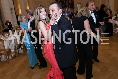 Yasmine Ghorbal, Omar Ghorbal. Photo by Tony Powell. 2017 Innocents at Risk Gala. OAS. April 26, 2017