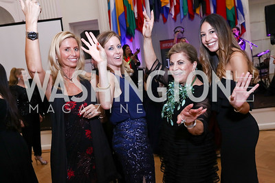 Maria Trabocchi, Jonnie Jameson, Annie Totah, Karina Gutierrez. Photo by Tony Powell. 2017 Innocents at Risk Gala. OAS. April 26, 2017