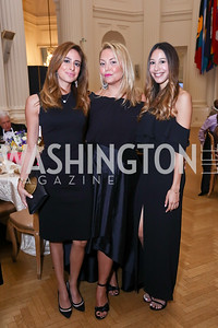 Erika Gutierrez, Andrea Rinaldi, Karina Gutierrez. Photo by Tony Powell. 2017 Innocents at Risk Gala. OAS. April 26, 2017