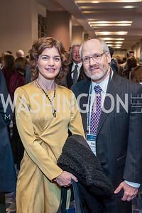 Tamar Zandberg, David Dormont. Photo by Tony Powell. 2017 J Street Gala. Convention Center. February 27, 2017