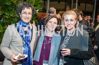 Nancy Bernstein,  Jessica Montell, Laura Friedman. Photo by Tony Powell. 2017 J Street Gala. Convention Center. February 27, 2017