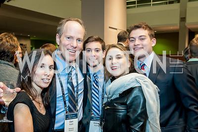 Stacy Kohl and 2017 Honoree Dan Kohl, Adam Kohl, Samantha Kohl, Benjamin Kohl. Photo by Tony Powell. 2017 J Street Gala. Convention Center. February 27, 2017