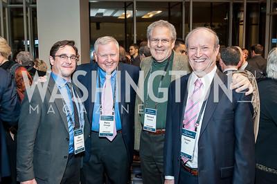 Dov Waxman, Barry Shrage, Bernard Avishai, Yoram Peri. Photo by Tony Powell. 2017 J Street Gala. Convention Center. February 27, 2017