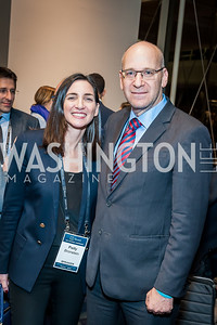 Polly Bronstein, Nadav Tamir. Photo by Tony Powell. 2017 J Street Gala. Convention Center. February 27, 2017