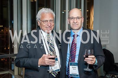 Amb. Sam Kaplan, Nadav Tamir. Photo by Tony Powell. 2017 J Street Gala. Convention Center. February 27, 2017