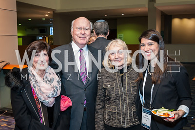 Margaret Lorber, Sen. Patrick and Marcelle Leahy, Jodie Rubenstein. Photo by Tony Powell. 2017 J Street Gala. Convention Center. February 27, 2017