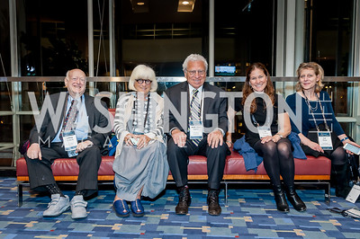 Jeffrey Moskow, Silvia and Amb. Sam Kaplan, Jill Chessen, Liz Rose. Photo by Tony Powell. 2017 J Street Gala. Convention Center. February 27, 2017