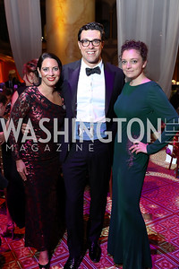 Nicole DiCocco, David O'Brien, Abbey Slitor. Photo by Tony Powell. 2017 JDRF Gala. Building Museum. November 4, 2017