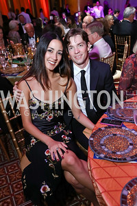 Washington Ballet dancers Francesca Dugarte and Jonathan Jordan. Photo by Tony Powell. 2017 JDRF Gala. Building Museum. November 4, 2017