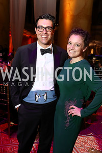 David O'Brien, Abbey Slitor. Photo by Tony Powell. 2017 JDRF Gala. Building Museum. November 4, 2017