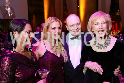 Nicole DiCocco, Martha Boneta, Bill Detty, Lola Reinsch. Photo by Tony Powell. 2017 JDRF Gala. Building Museum. November 4, 2017