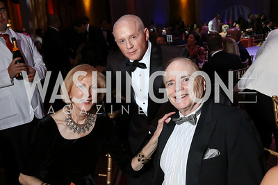 Lola Reinsch, Todd Hitt, Bill Detty. Photo by Tony Powell. 2017 JDRF Gala. Building Museum. November 4, 2017