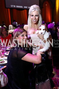 Fariba Jahanbani, Christina Conn and puppy, Bogart. Photo by Tony Powell. 2017 JDRF Gala. Building Museum. November 4, 2017