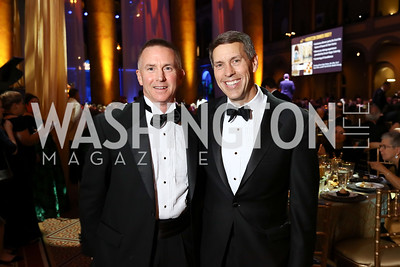Rapaport Honoree Tom Brobson, JDRF's Derek Rapp. Photo by Tony Powell. 2017 JDRF Gala. Building Museum. November 4, 2017