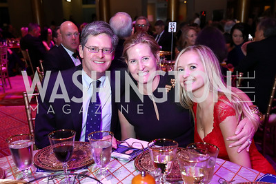 Brian, Robin, and Paige Kelly. Photo by Tony Powell. 2017 JDRF Gala. Building Museum. November 4, 2017