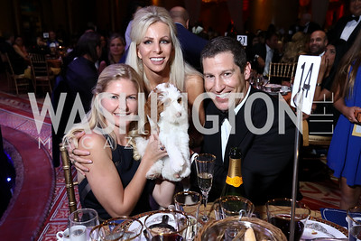 Melissa Stock, Christina Conn, Bogart, Mike Stock. Photo by Tony Powell. 2017 JDRF Gala. Building Museum. November 4, 2017