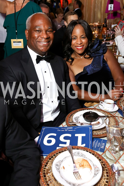Larry and Janell Duncan. Photo by Tony Powell. 2017 JDRF Gala. Building Museum. November 4, 2017