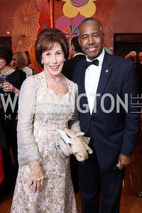 Catherine Reynolds, HUD Sec. Ben Carson. Photo by Tony Powell. 2017 Kennedy Center Spring Gala. May 8, 2017