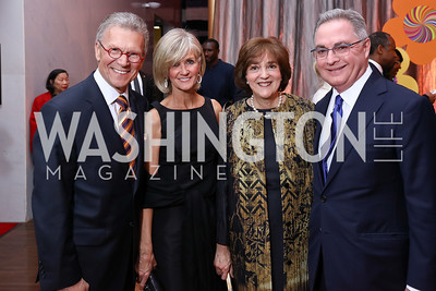 Tom and Linda Daschle, Janie and Cappy McGarr. Photo by Tony Powell. 2017 Kennedy Center Spring Gala. May 8, 2017