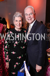 Barbie Allbritton, HHS Sec. Tom Price. Photo by Tony Powell. 2017 Kennedy Center Spring Gala. May 8, 2017
