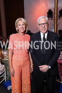 Education Sec. Betsy DeVos, David Rubenstein. Photo by Tony Powell. 2017 Kennedy Center Spring Gala. May 8, 2017