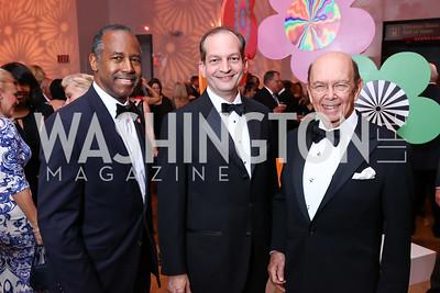 HUD Sec. Ben Carson, Labor Sec. Alexander Acosta, Commerce Sec. Wilbur Ross. Photo by Tony Powell. 2017 Kennedy Center Spring Gala. May 8, 2017