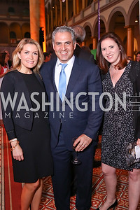 Amanda and Jake Perry, Sarah Flack Lopez. Photo by Tony Powell. 2017 March of Dimes Gourmet Gala. Building Museum. May 23, 2017