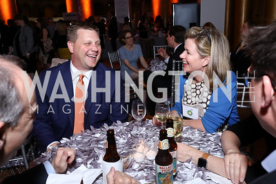 Ryan Walker, Mary Streett. Photo by Tony Powell. 2017 March of Dimes Gourmet Gala. Building Museum. May 23, 2017