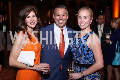 Lindsay Angerholzer, Chris Berardini, Kelley Williams. Photo by Tony Powell. 2017 March of Dimes Gourmet Gala. Building Museum. May 23, 2017